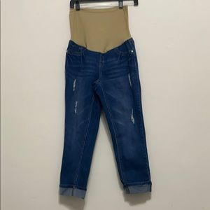 Planet Motherhood distressed and cuffed jean